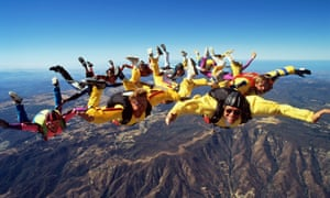 The number of first-time parachute jumps in Britain has increased by 50% the past 10 years.