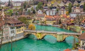 Go with the flow: a bridge over the Aare River in Bern.