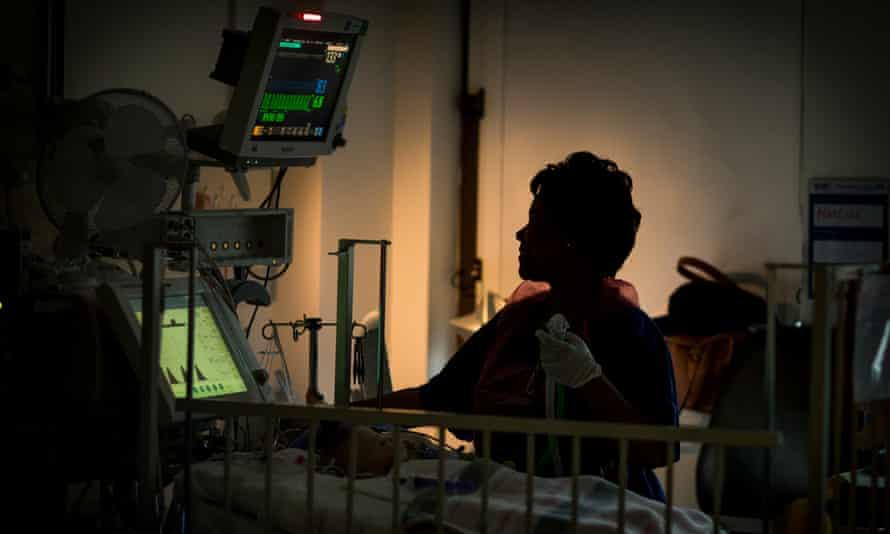 A paediatric intensive care unit (PICU) in London