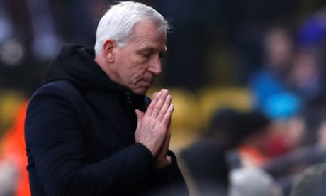 Alan Pardew limps on with West Brom out of credible alternatives