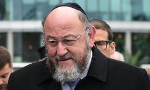 Ephraim Mirvis, the UK's chief rabbi,