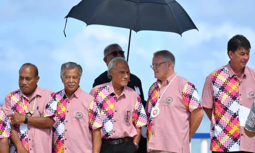 Leaders at the Pacific Islands Forum in Tuvalu