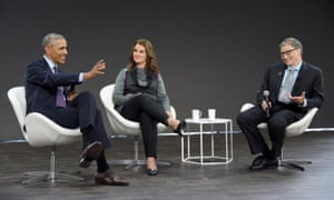 Barack Obama, Melinda Gates and Bill Gates speak at the conference to highlight progress against global poverty and disease.