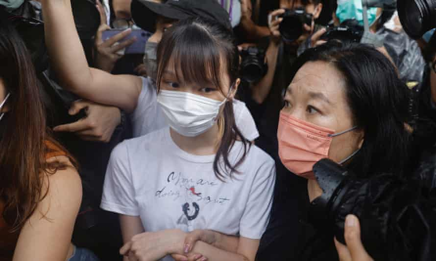 Agnes Chow after her release from prison.