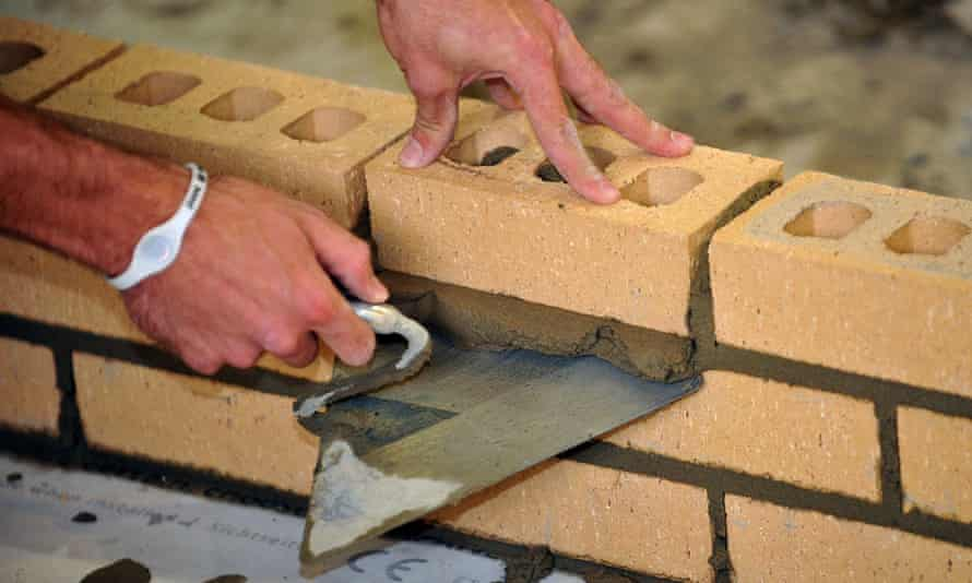 A bricklayer