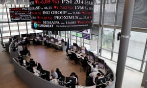 The Euronext stock exchange in Paris's financial district of La Défense.