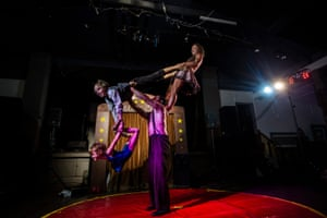 The Pitts Family Circus perform