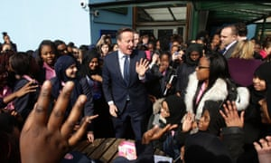 David Cameron meets staff and pupils during his visit to Harris Academy in Bermondsey, south London last week.