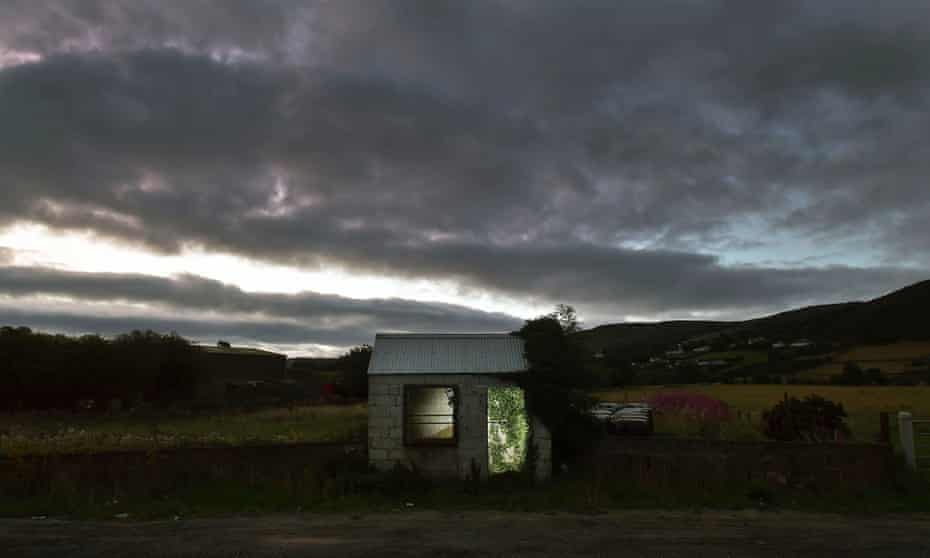 A former customs guard hut in Ravensdale, Ireland. The frontier is the only border between the UK and the EU.