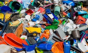 Colourful rubbish, plastic waste sorted for recycling