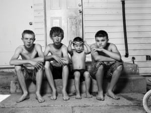 Austin, Randy, Michael and Justin, 2017'Randy is a boy from Ely, Nevada'