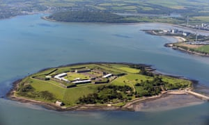 Spike Island fort and prison from above.