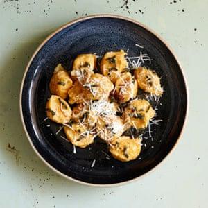 Anna Del Conte's pumpkin gnocchi.