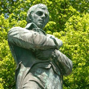 Statue of Robert Burns at Stanley Park Vancouver BC Canada