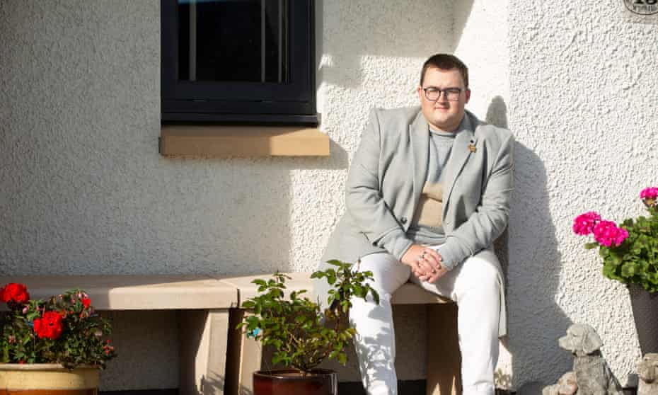 Nairn McDonald seen at his home in St Michael's Wynd, Kilwinning