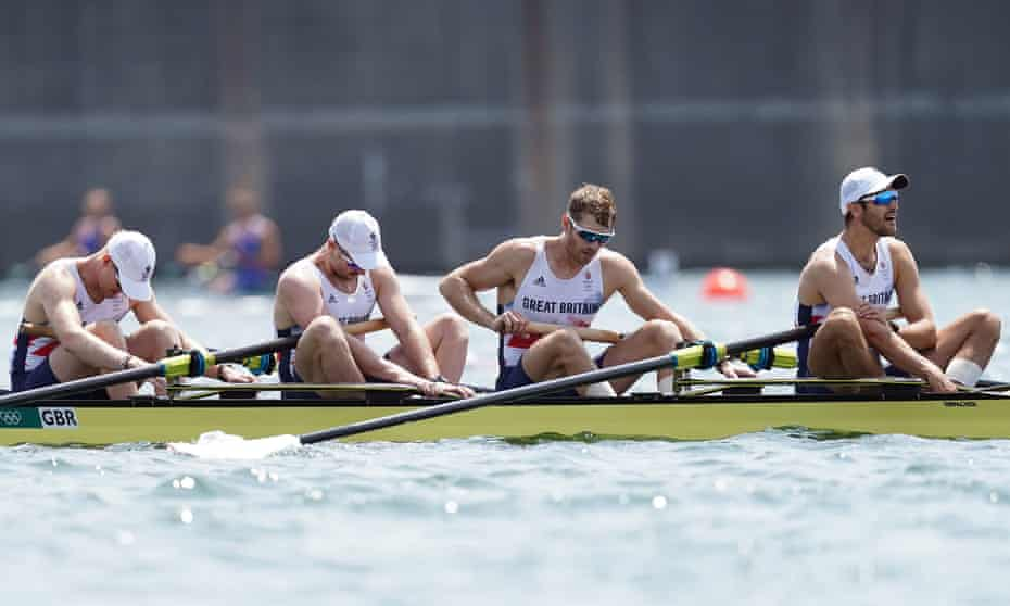 The British squad of Oliver Cook, Matthew Rossiter, Rory Gibbs and Sholto Carnegie finished fourth in the coxless fours