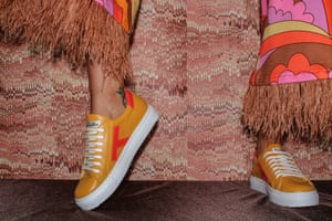 Stepping outCelebrity designer shoe brand Terry de Havilland, known for being the rock 'n' roll cobbler of the 70s, has launched an exclusive new line-up of premium-quality leather sneakers. Available in six zesty colours from citrus orange to kiwi green. T sneaker, £149 terrydehavilland.com