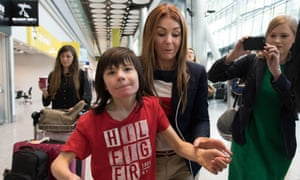 Charlotte Caldwell and Billy at Heathrow, where they had a supply of cannabis oil confiscated