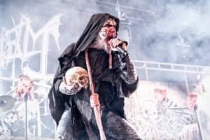 Mayhem performing in 2014.