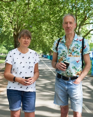 Elaine Hanna and Alex in London Fields