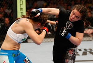 Rosi Sexton works her angles at UFC 161.