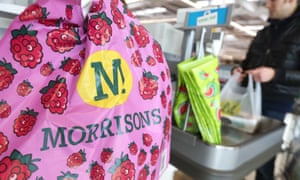 Plastic bags at Morrisons.