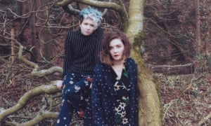 Honeyblood's Cat Myers (left) and Stina Tweeddale