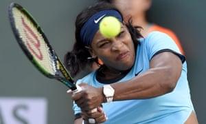 Serena Williams makes light work of Kateryna Bondarenko.