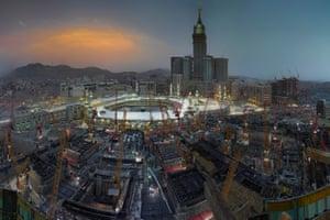 Construction cranes now dominate Mecca's skyline.