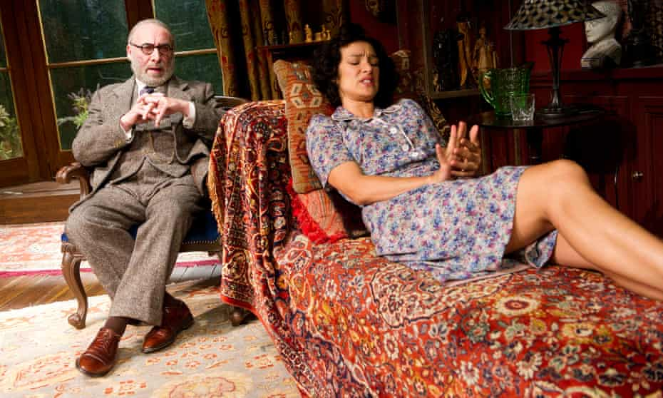 Antony Sher (Sigmund Freud) and Indira Varma (Jessica) in Terry Johnson's play, Hysteria.