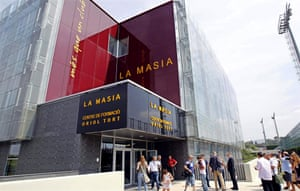 Exterior view of La Masia 2.0, which is based about three miles east of Camp Nou