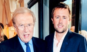 Sir David Frost with his son Miles