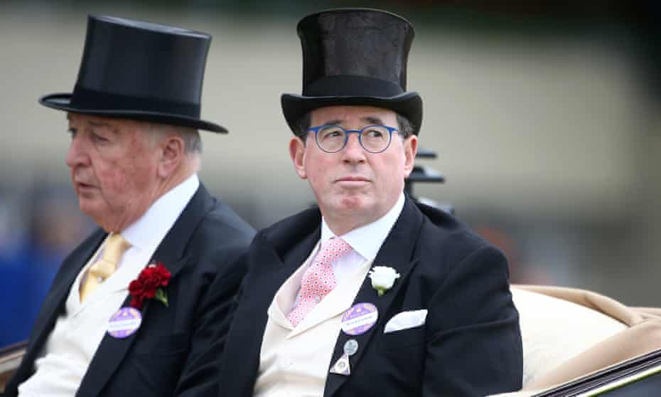 The Duke of Devonshire and Baron Grimthorpe in the royal procession at Ascot, 2015.