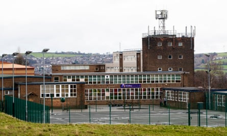 The incident happened in the playground atAlmondbury community school in Huddersfield.