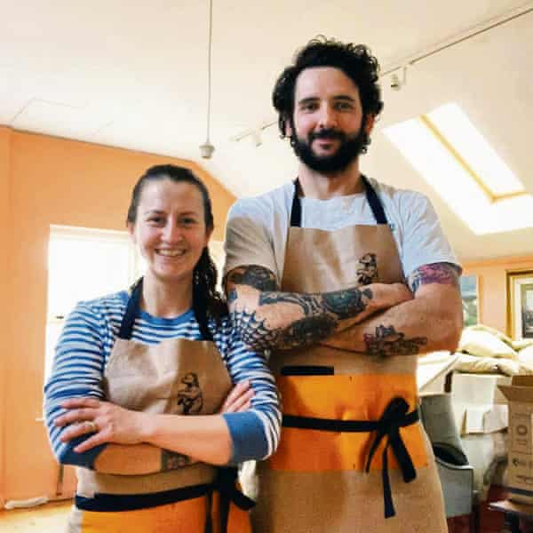 Bakers Ciara Ohartghail and her husband Dara made more space so customers could socially distance