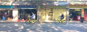 Making cycling cool again … share bikes in Guangzhou.