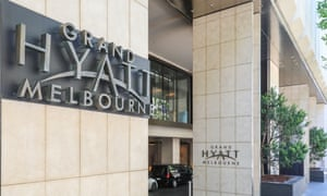 The Grand Hyatt hotel in Melbourne is one of the three hotels being used for quarantine of players and staff competing in the Australian Open.