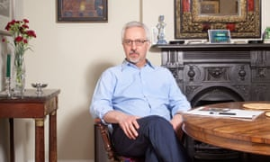 Alan Hollinghurst at home in Hampstead.