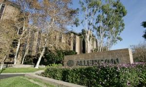 Allergan's offices in California.