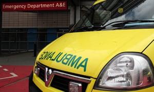 Ambulance and A&E sign