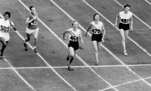 Betty Cuthbert wins the women's 100 metres final at the Melbourne Olympics in 1956.