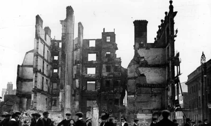 The ruins of Sackville Street, Dublin, after the Easter Rising