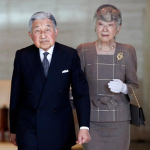 Japan's Emperor Akihito and Empress Michiko pictured in May 2018.