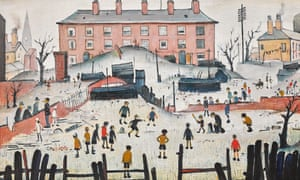 Detail of LS Lowry's A Cricket Match, 1938