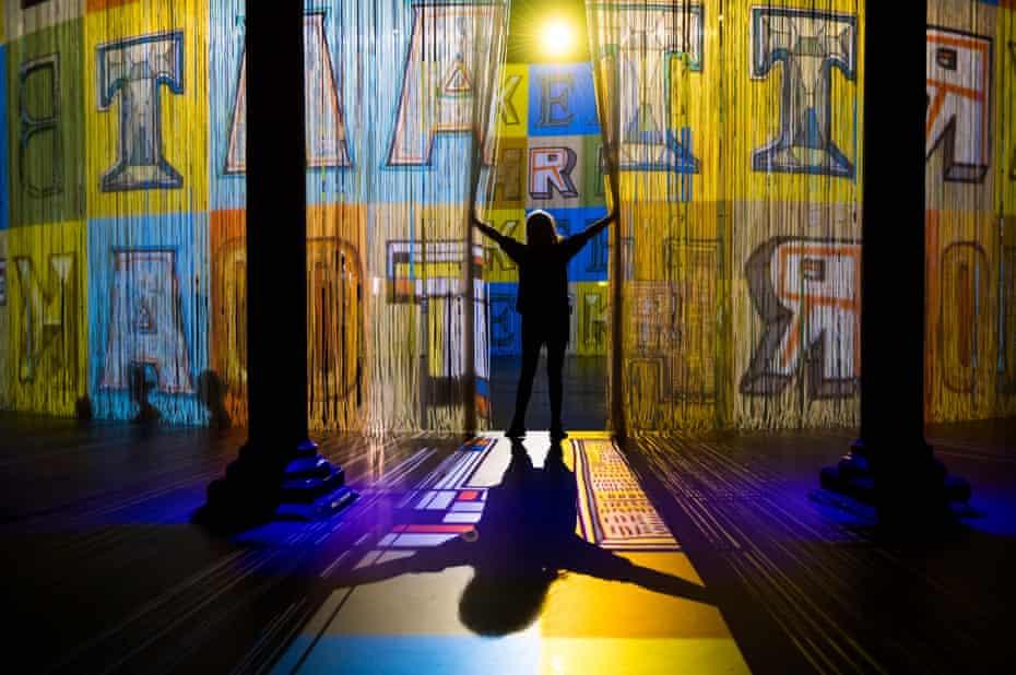 Art installation 'Curtain Call' by artist Ron Arad