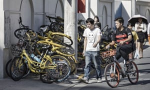 Some western city authorities are concerned that unused bikes could be dumped en masse, like they have been in Chinese cities.