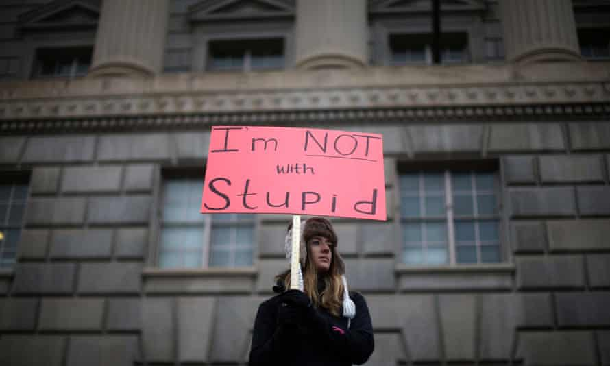A marcher in Washington.