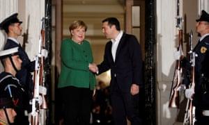 Angela Merkel meets Alexis Tsipras in Athens.