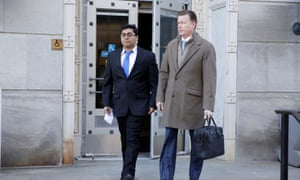Former Rutgers University student Paras Jha, one of the accused, leaves a US courthouse after his hearing in Trenton, New Jersey.
