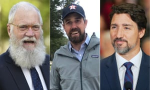 The hair-faced cheek … David Letterman, Beto O'Rourke and Justin Trudeau.